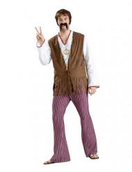 Déguisement pantalon hippie années 60/70 homme