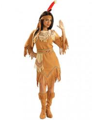 Déguisement Indienne marron beige femme