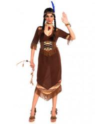 Déguisement indienne marron femme