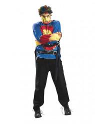 Déguisement homme psychopathe Halloween multicolore