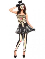 Déguisement squelette robe femme Dia de los muertos
