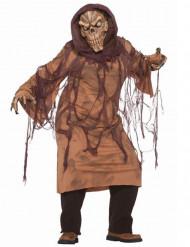 Déguisement squelette marron adulte