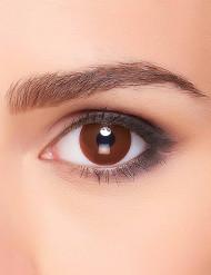 Lentilles fantaisie œil marron adulte