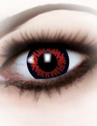 Lentilles fantaisie oeil de loup-garou rouge Halloween adulte
