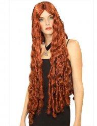 Très longue perruque femme rousse
