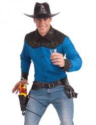 Ceinture de cowboy avec porte-bouteille et porte-verres