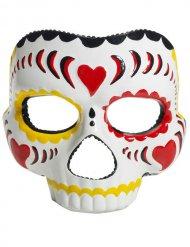 Masque Dia de los Muertos Masque Halloween blanc-multicolore