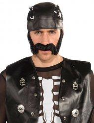 Moustache de motard noire