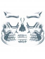 Tatouage ephémere visage squelette adulte