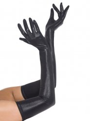 Gants longs simili cuir adulte