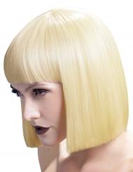 Perruque carrée blonde  avec frange femme