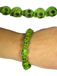 Bracelet crânes vert adulte