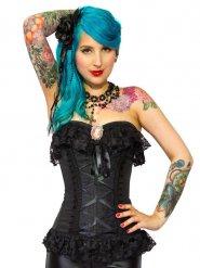 Burleska Gothic Elizabeth overbust burlesque corset black