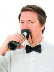 Accessoire pour bouteilles : moustache noire 10.5x8cm
