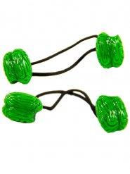 2 élastiques cerveaux verts