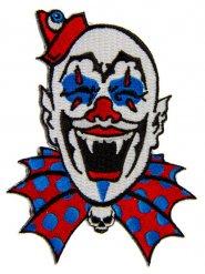Patch clown gothique11 x 9 cm