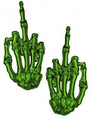 Lot de 2 patchs main de squelette doigts d