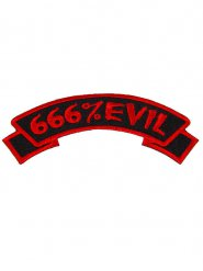 Patch gothique 666% Evil