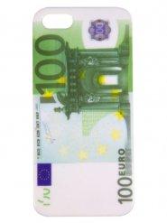 Coque pour iPhone 5 imprimé billet 100€ 14,5x8,5x0,6cm