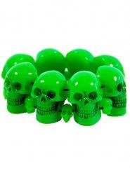 Bracelet tête de mort vert adulte