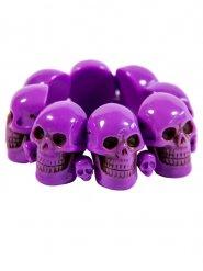 Bracelet tête de mort violet adulte