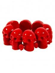 Bracelet tête de mort rouge adulte