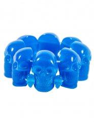 Bracelet gothique têtes de mort bleu