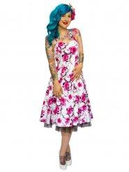 Robe fleurie années 50 femme