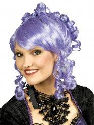 Perruque bouclée violette
