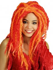 Perruque Dreadlocks rouge et orange