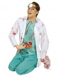 Déguisement chirurgien taché de sang homme Halloween