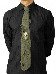 Cravate Halloween avec crâne