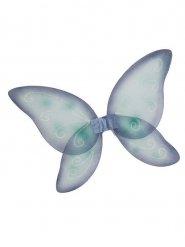 Ailes papillon bleu enfant