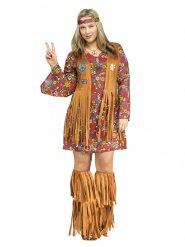 Déguisement années 60 hippie femme grande taille