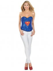 Sexy Supergirl Sequin Corsage Comic Licensed Product blue-red