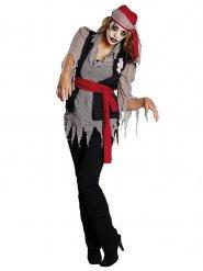 Déguisement zombie pirate Halloween femme