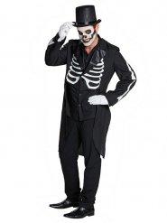 Veste queue de pie Halloween homme squelette