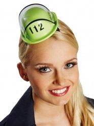 Mini casque de pompier vert femme