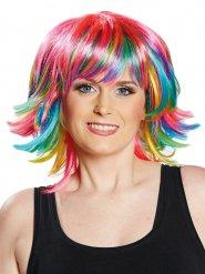 Perruque à frange colorée