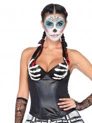 Corset squelette sexy femme Halloween