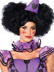 Perruque luxe clown noir XXL femme