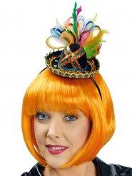 Mini sombrero coloré avec sequins femme
