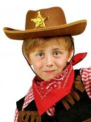 Chapeau shérif marron enfant