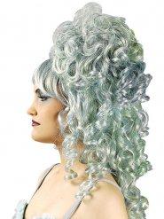 Perruque baroque bouclée grise femme