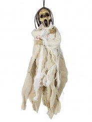 Décoration squelette mort blanc 40 x 20 cm