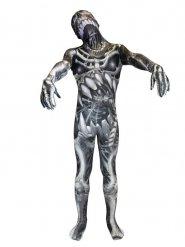 Déguisement Morphsuits™ monstre squelette enfant pour halloween noir-gris