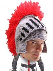 Bonnet heaume chevalier gris-rouge DE