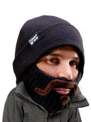 Bonnet avec barbe en tricot adulte