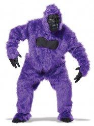 Déguisement gorille violet et noir adulte