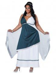 Déguisement de déesse romaine bleue femme